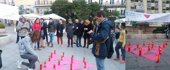 Homenaje en la Plaza de Pedro Zerolo a las víctimas LGTB del holocausto nazi | Fotografía: Arcópoli