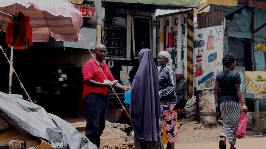 La economía informal es el principal sustento económico del barrio de Eastleigh.