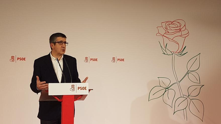 Patxi López en la presentación de su candidatura en la Fundación Diario Madrid.