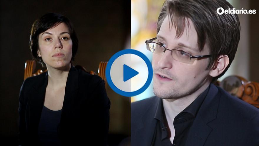 Marta Peirano entrevista a Edward Snowden para eldiario.es