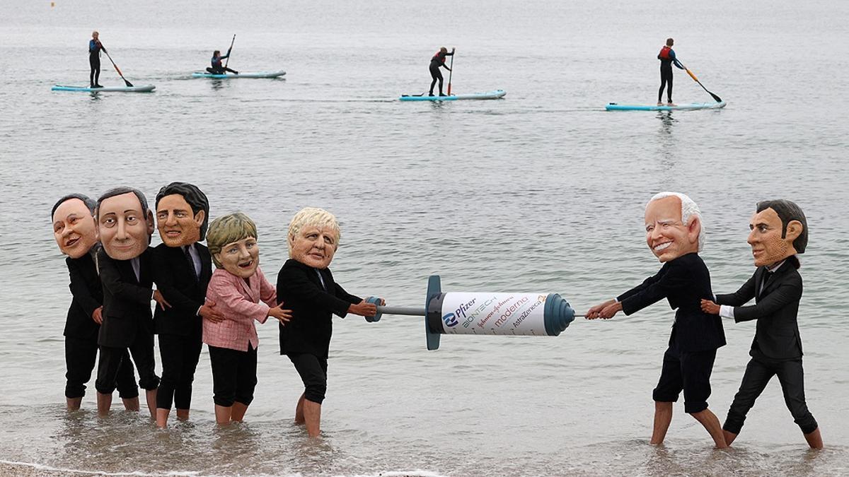 La cumbre del G7 tiene lugar en la bahía de Carbis, cerca de St. Ives, en Cornualles