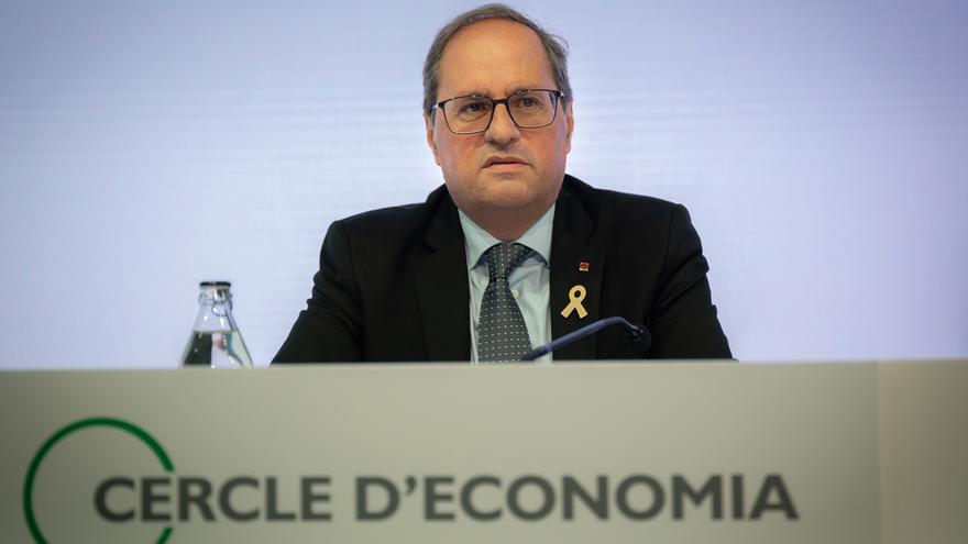 """Torra reclama a los empresarios que apoyen desde """"primera fila"""" un referéndum"""