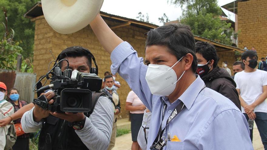 Pedro Castillo, candidato a presidente en Perú