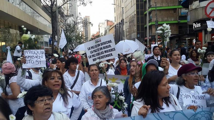 Marcha de la Ruta Pacífica, en Bogotá.