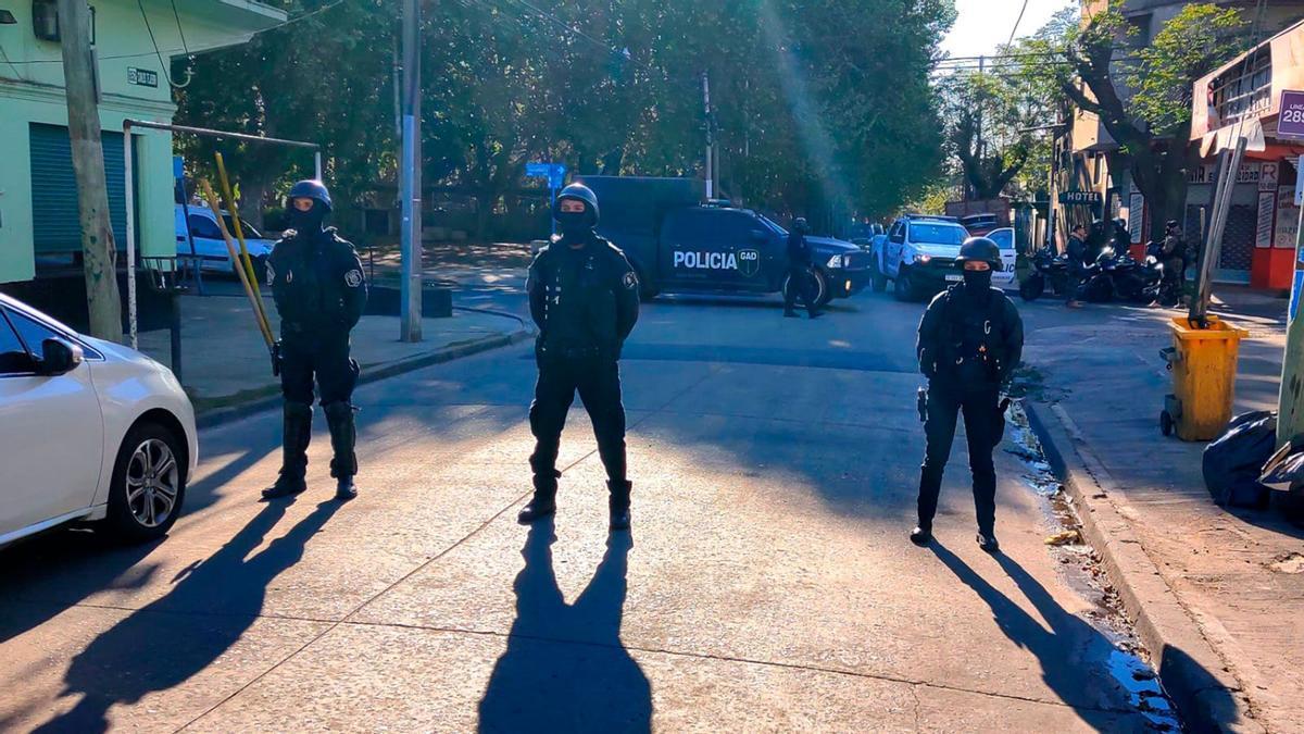 La zona cortada por la Policía y Grupo Halcón