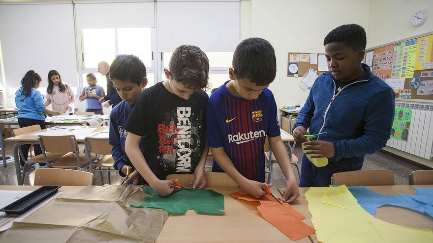 Alumnos del colegio Josep Maria Sagarra