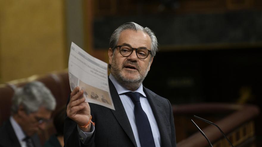 Marcos de Quinto, en una imagen de 20 de febrero en el Congreso de los Diputados.
