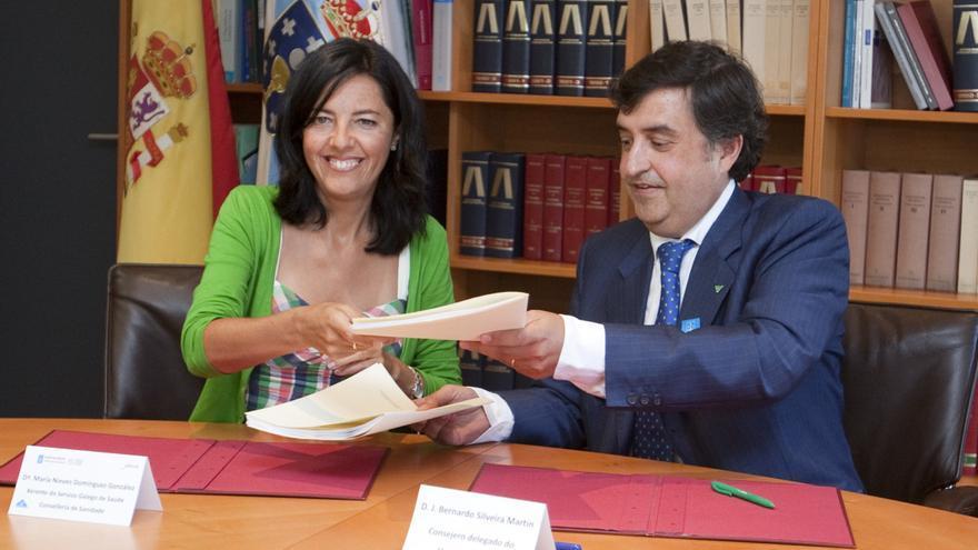 Firma del actual concierto entre la Xunta y Povisa en septiembre de 2014