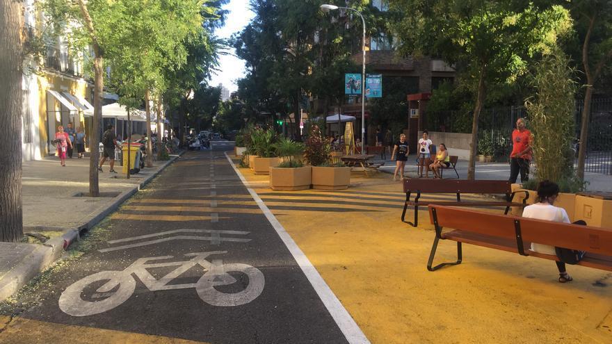 El tramo peatonalizado de la calle Galileo