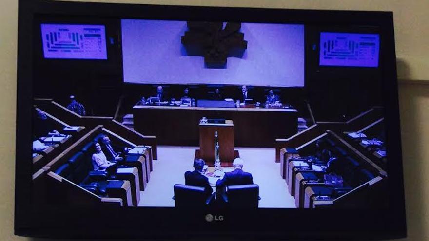 Votación conjunta de EH Bildu, Elkarrekin Podemos y PP