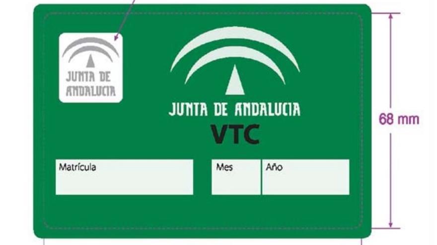 Tarjeta identificatoria para VTC