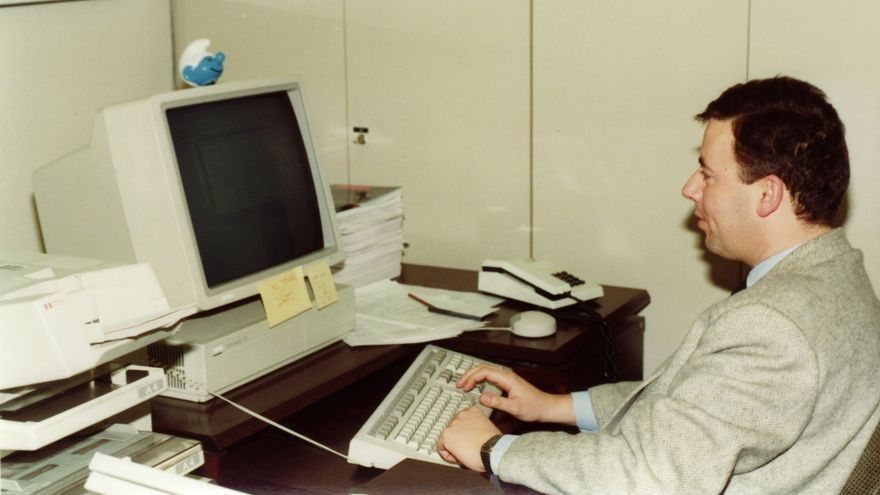 Iñaki Martínez gestionaba el servicio de correo electrónico de RedIris que estaba alojado en Groucho (Imagen: cedida por Miguel Ángel Sanz)