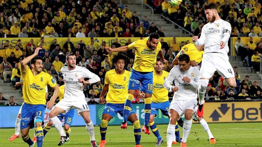 Sergio Ramos anota el 0-1 a la salida de un saque de esquina.