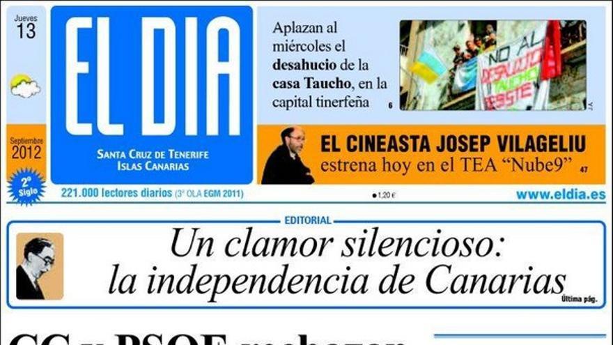 De las portadas del día (13/09/2012) #3