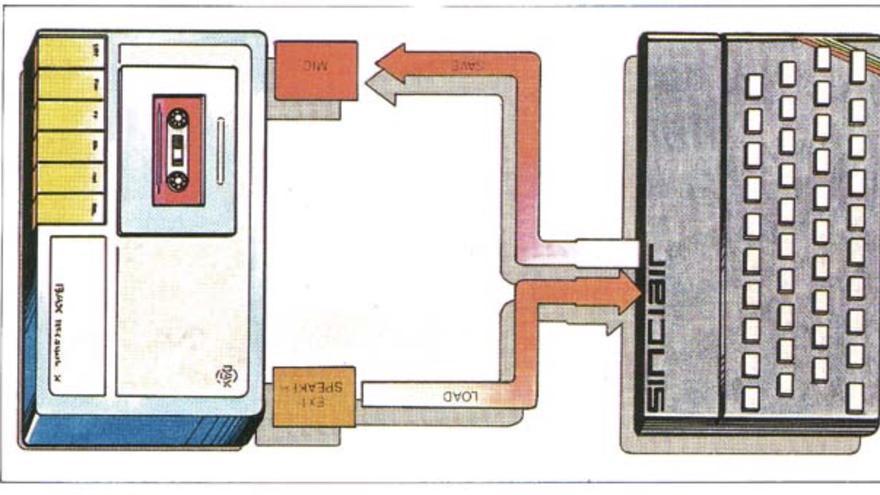 Los cursos incluían abundantes esquemas como este, que explicaba el proceso de grabación de una cinta magnética