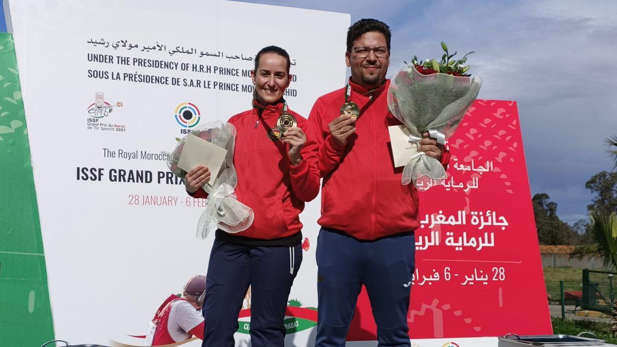Fátima Gálvez y Alberto Fernández en Rabat.