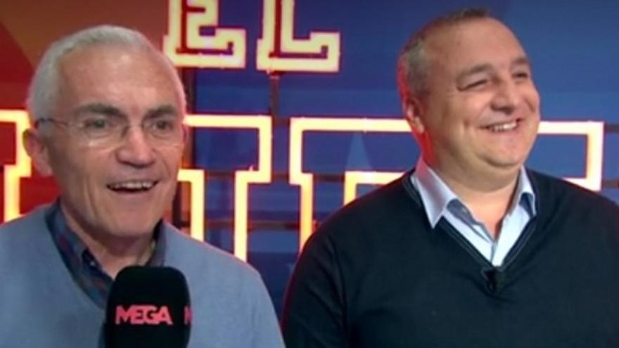 Paco García Caridad y Miguel Ángel Ramírez en 'El Chiringuito' de Mega