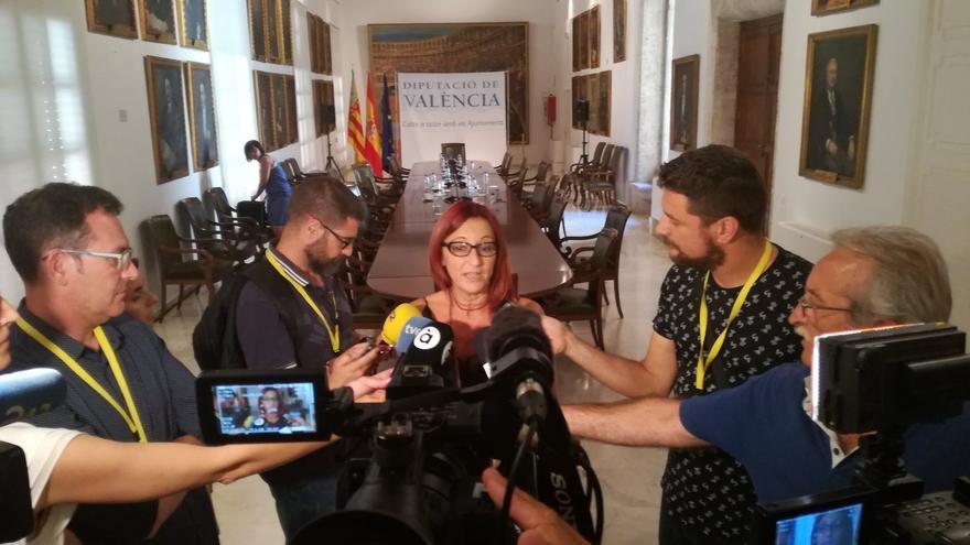 La presidenta de la Diputación en funciones, Maria Josep Amigó