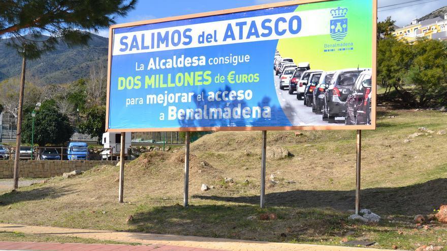 Uno de los carteles señalados por la Junta Electoral de Zona / N.C.