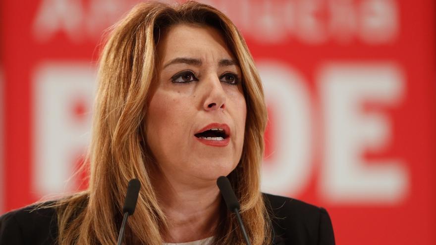 """Susana Díaz reitera su apoyo a la dirección de Pedro Sánchez tras el Comité Federal: """"Lo que hagan me parecerá bien"""""""