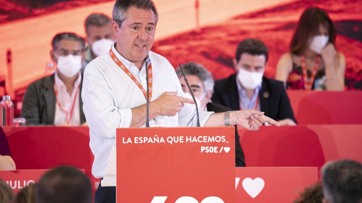 Juan Espadas durante su intervención en el Comité Federal del PSOE.