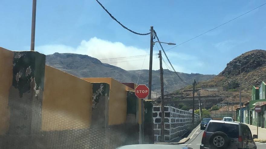 Incendio de la cumbre de Gran Canaria.