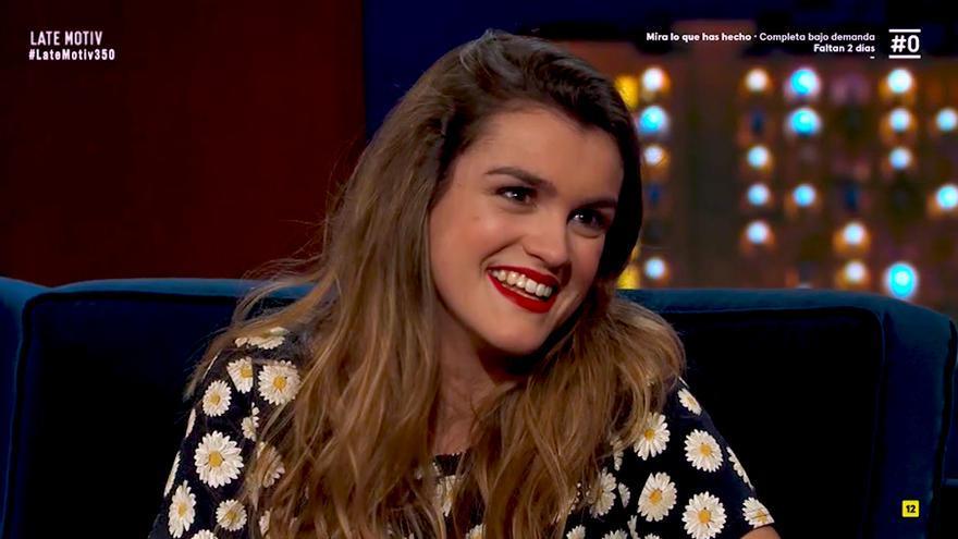 """Amaia, en Late Motiv sobre la prensa del corazón: """"Poco a poco quiero dejar mi vida personal de lado"""""""