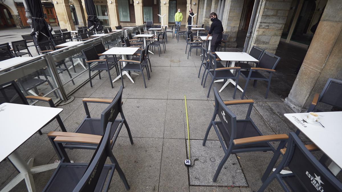 La terraza de un bar de Pamplona