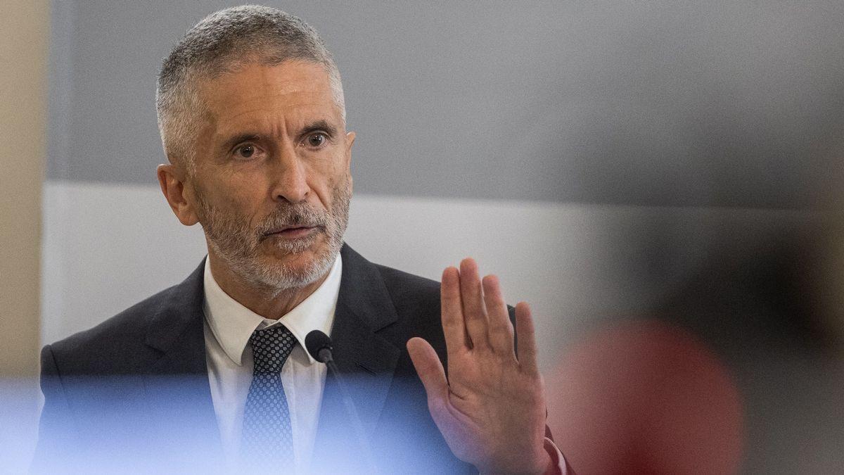 El ministro del Interior, Fernando Grande-Marlaska, en una intervención del pasado mes de agosto