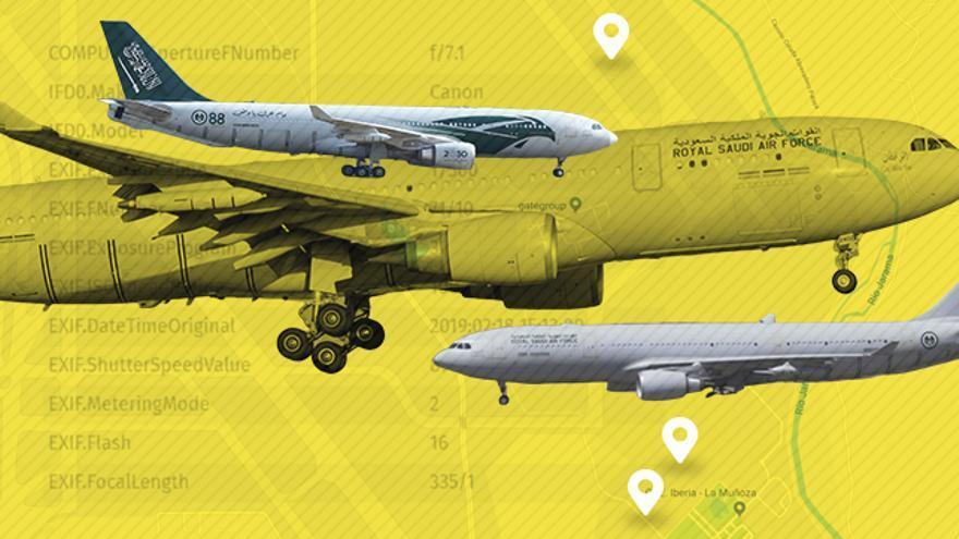 Los aviones del ejército saudí visitan regularmente las dependencias de Iberia en los aledaños de Barajas.