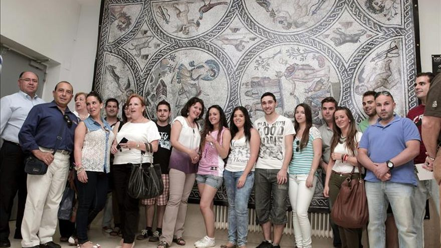 El Mosaico romano de Los Amores abierto desde hoy a los internautas