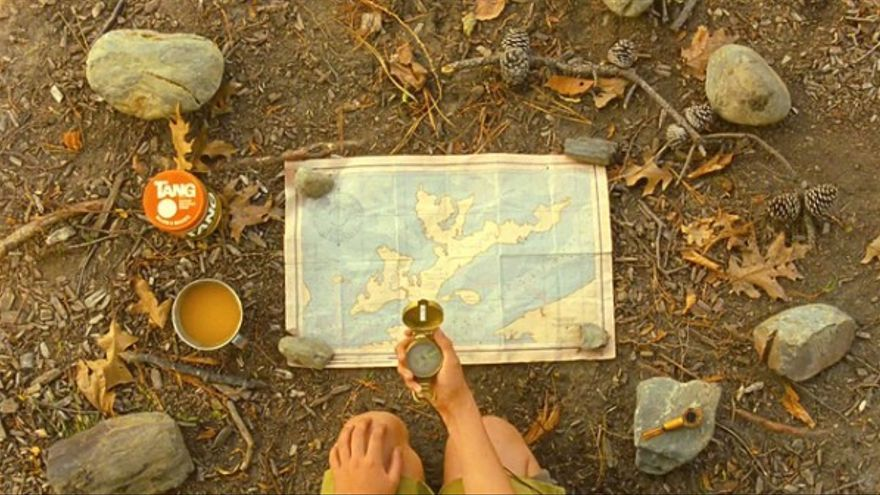 Plano horizontal de la película Moonrise Kingdom