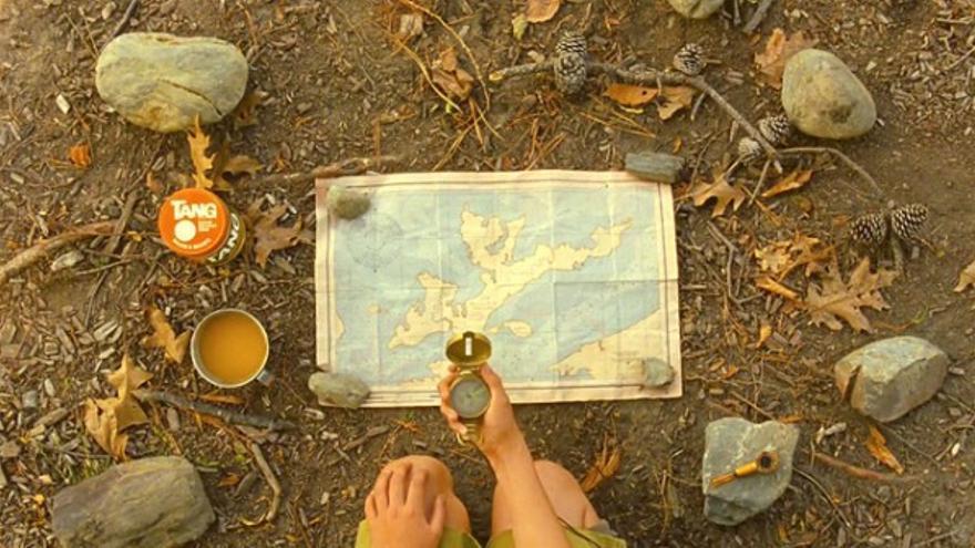 Plano horizontal de la película Moonrise Kingdom