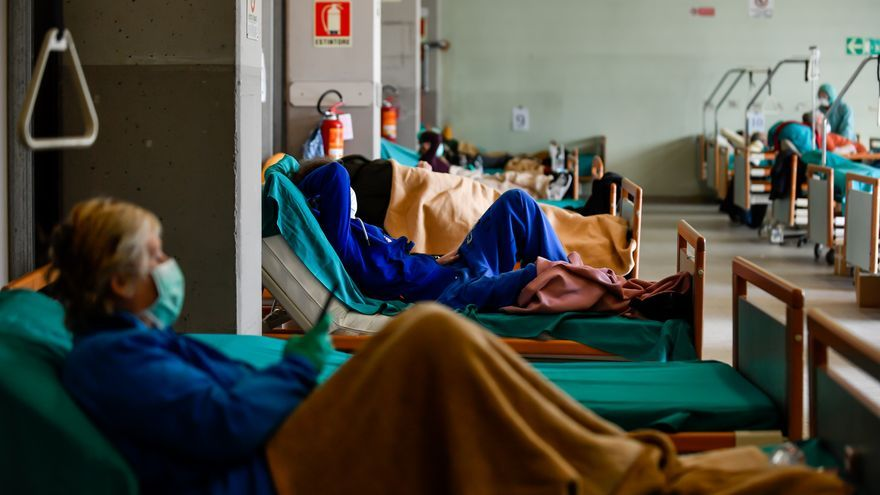 Resultado de imagen de hospital coronavirus españa