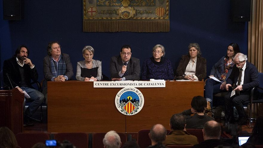 El Comité Ejecutivo del Pacte Nacional pel Referèndum, encabezado por Joan Ignasi Elena