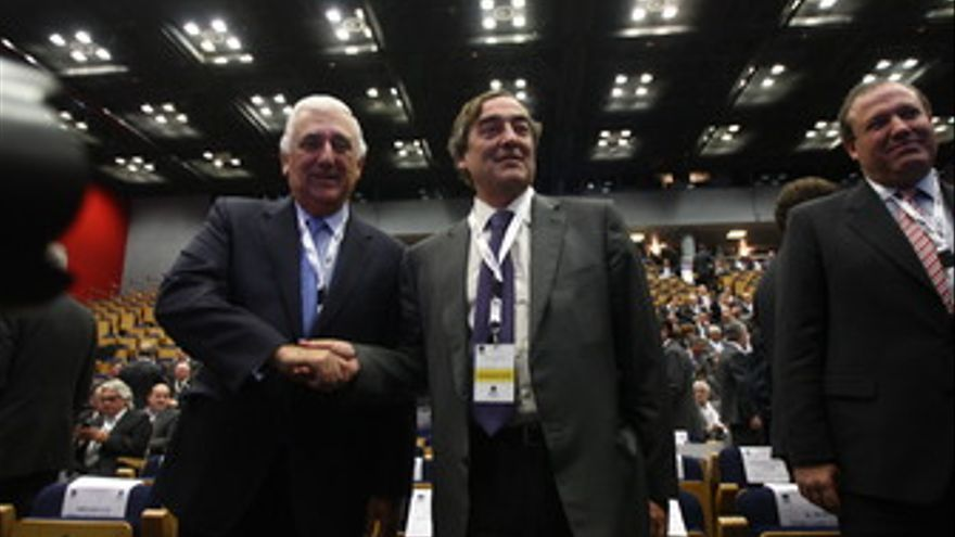 Presidente de la patronal andaluza (CEA), Santiago Herrero, y el presidente de F