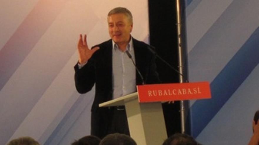 José Blanco En Un Mitin En Castellón