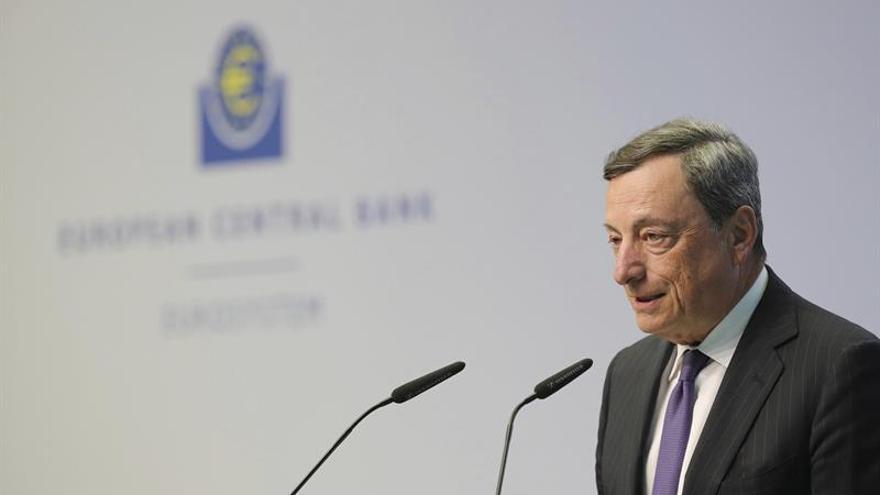 Draghi: la recuperación económica es más sólida y han disminuido los riesgos