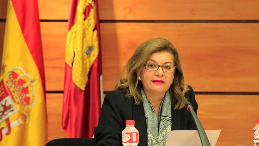 Carmen Amores, en las Cortes de Castilla-La Mancha