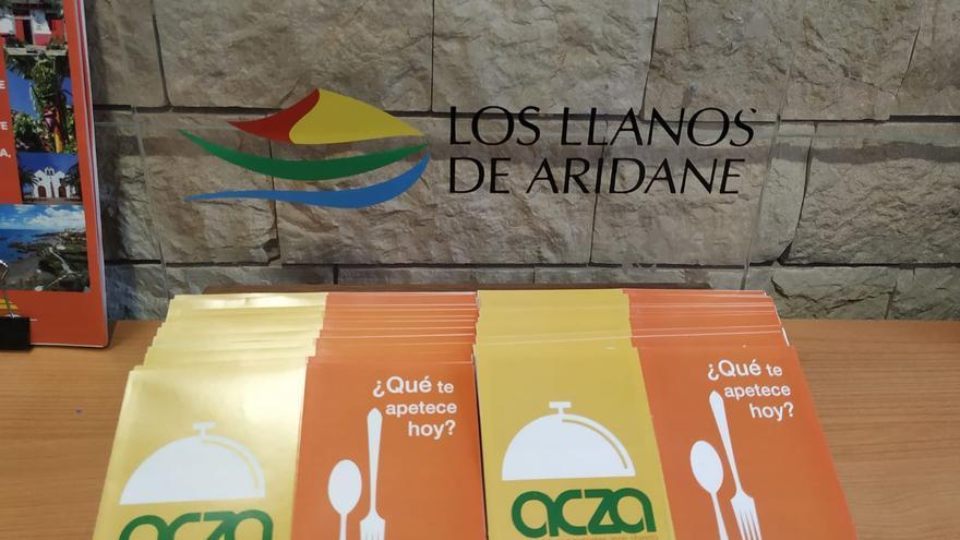Guía de restauración presentada por la Asociación de Comerciantes Zona Abierta (ACZA) de Los Llanos de Aridane.