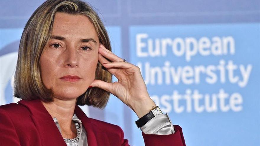 """Mogherini dice que la inmigración ilegal es una """"nueva forma de esclavitud"""""""
