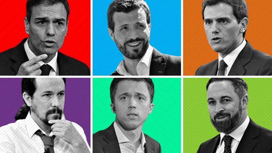 Los principales candidatos para las elecciones del 10N.