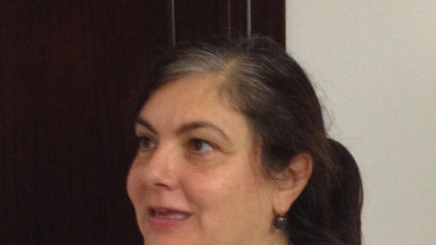 La presidenta de la PAH Euskadi, Rosa de la Fuente.