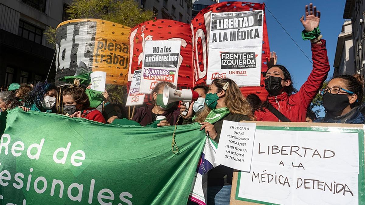 Manifestación en CABA en apoyo a la médica detenida