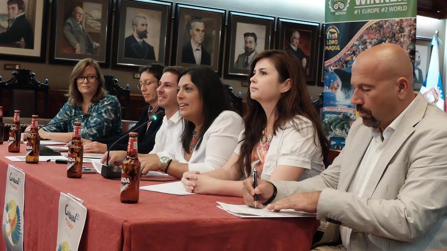 Presentación oficial de la actividad, en el Ayuntamiento portuense