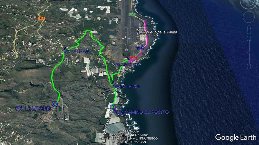 Itinerario de la prueba deportiva.