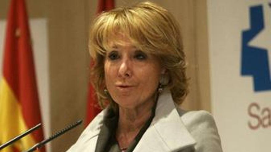 RDP de la presidenta de la Comunidad, Esperanza Aguirre