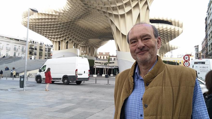 Emilio Ribelot, este martes en la Plaza de la Encarnación de Sevilla