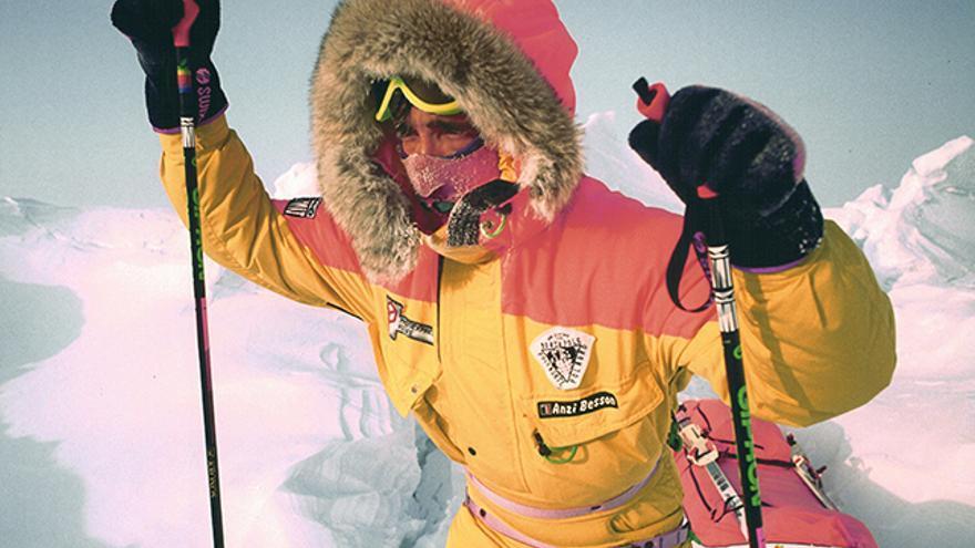 En solitario en el Polo Norte.