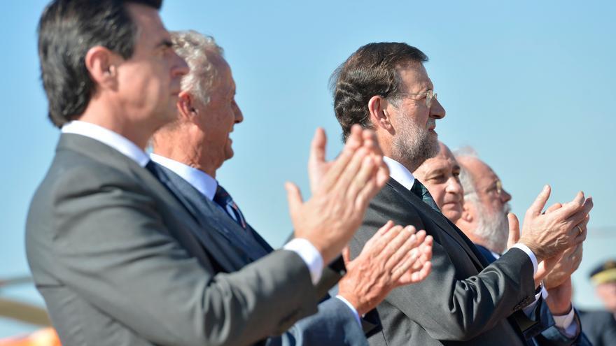 Rajoy, Soria, Morenés, Fernández Díaz y Cañete, en octubre de 2012. Foto: La Moncloa